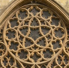 Rose Window of the Cathedral of Exeter in England