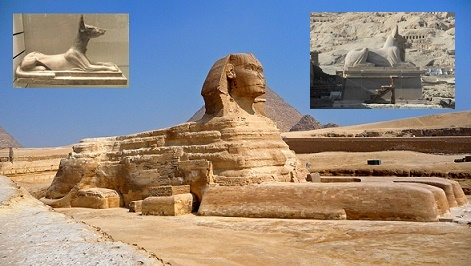 The Great Sphinx of Giza and Anubis